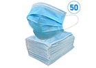 GB/T 32610-2016 Certified 3 Ply Disposable Face Mask (50 Pack)